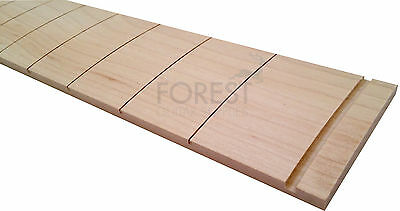 "Hard maple guitar fretboard, fingerboard  25.5"" Fender slotted R16"""