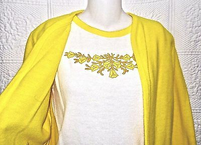 "Nwt 60's Vintage ""italian Look"" Sun Yellow Knit Ladies Suit-Skirt Jacket Set-12"