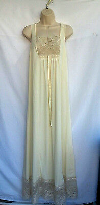 Rutledge Women's Nightgown Ivory Bottom Lace Vintage Look Size Medium 14/16
