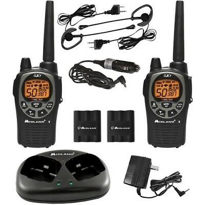 MIDLAND GXT1000VP4 36-Mile GMRS Radio Pair Pack with Drop-in Charger & Rechar...