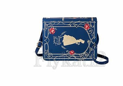 Disney Live Action Beauty And The Beast Belle Book Crossbody Clutch Purse