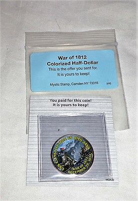 War of 1812 Colorized Half-Dollar Coin