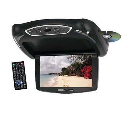"TVIEW T102DVFD Tview 10.2"" TFT LCD Flip Down Monitor DVD Headphones Remote US..."