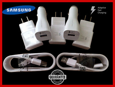 Genuine OEM Samsung Note 5 Edge S6 S7 Charger Adaptive Fast Charging + 5FT Cable