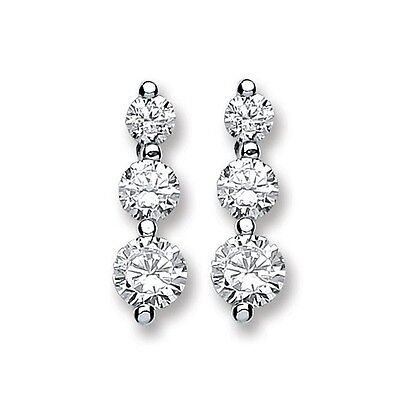467ff2cf6e1d3a CLAIRE'S STERLING SILVER Cubic Zirconia Graduated Round Stud ...