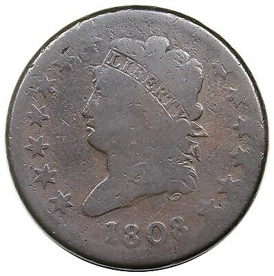 1808 Classic Head Large Cent, S-279, LDS, nice G+