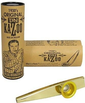 The Original Kazoo in a Tube - Great Gift Gold or Silver Finish