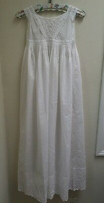 Absolutely stunning 1890s antique Victorian white cotton christening dress
