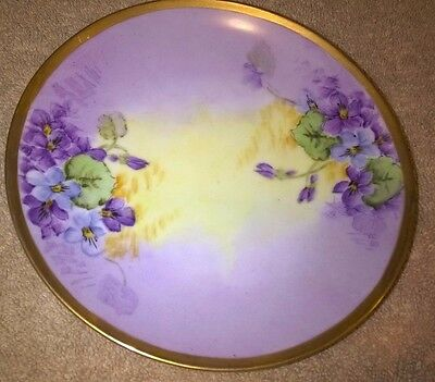 """Antique LIMOGES Hand Painted Floral 6 1/2"""" -inch Plate"""