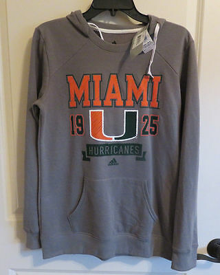 NWT Women's Miami Hurricanes Gray Crewdie (Sold in Set of 10)