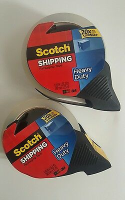Scotch Heavy Duty Shipping Packaging Tape with Refillable Dispenser pack 2