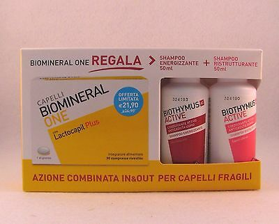 BIOMINERAL ONE lactocapil plus 30 cpr + biothymus shampoo donna e uomo 50 ml