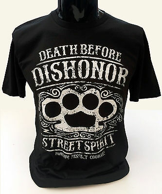 Death Before Dishonor T-Shirt Mens S-2XL Street Spirit Grunge Distressed Duster
