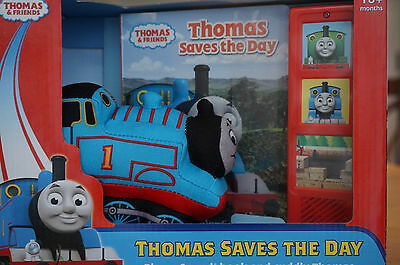 THOMAS & Friends Saves the Day Plush Toy Play-a-Sound book and cuddly Thomas