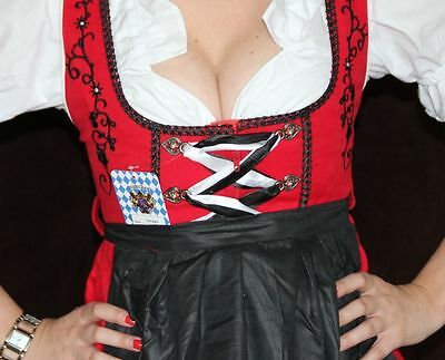 Germany,German,MAY,Fest,Oktoberfest,Dirndl Dress,2-pc.+FREE Blouse.Sz.8 Red,Bl.