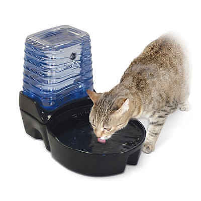 K&H PET PRODUCTS 2572  Black CLEANFLOW CAT CERAMIC FOUNTAIN WITH RESERVOIR 17...