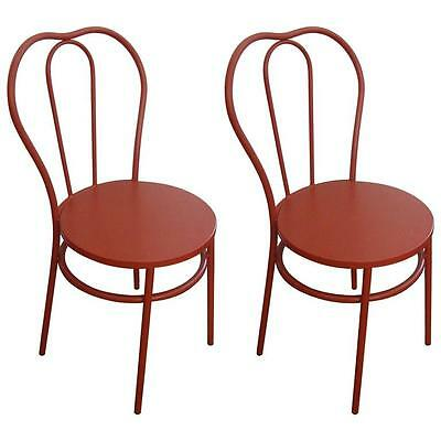 ON SALE NOW! Pair of Candy Apple Red Industrial Bistro Chairs
