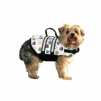 PAWS ABOARD N1500  Nautical DOG LIFE JACKET LARGE NAUTICAL