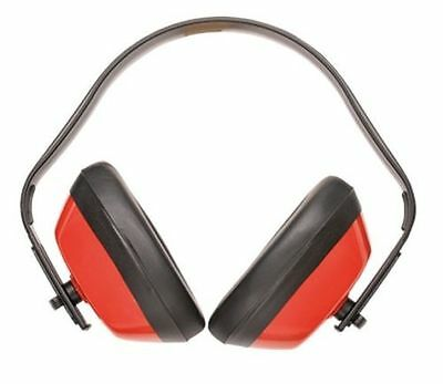 Portwest PW40RER, Classic Ear Protector Muffs, ANSI, One Size, Red, Single Pair
