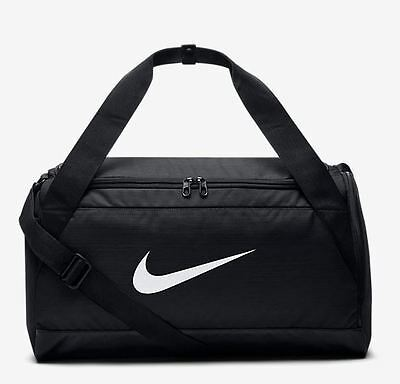 7e4a31a1979 NIKE BRASILIA SMALL Training Duffel Gym Bag Black White BA5335-010 b ...