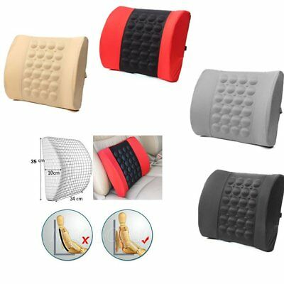 ERGONOMIC Lumbar support cushion Car Van office seat back chair pad lower Spine
