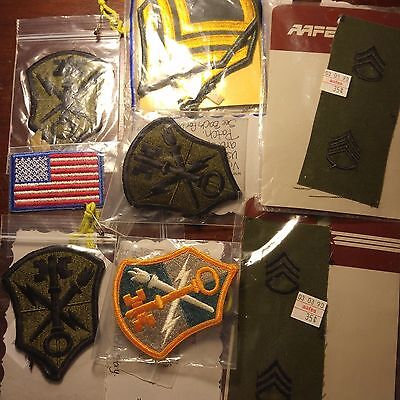 Lot of 9 Assorted US Army  Patches New Old Stock