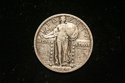 1924 Standing Liberty Quarter , US Coin ,  VERY FINE,