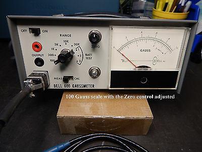 F.W. Bell Model 600A Gaussmeter with calibrated probe, working