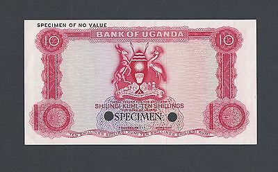 Uganda 10 Shillings ND 1966 P2ct Specimen Trial Color Uncirculated