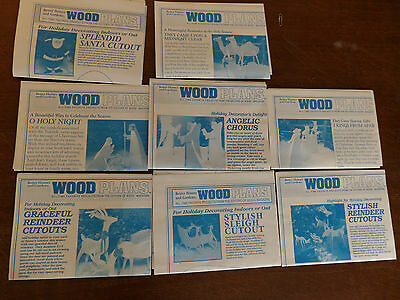 Christmas Yard Art Woodworking Plans 8 sets all full size patterns Better Homes