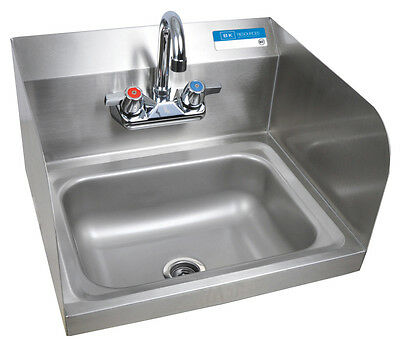 """Commercial NSF Hand Sink & Faucet 14"""" x 10"""" With Splash Guard"""