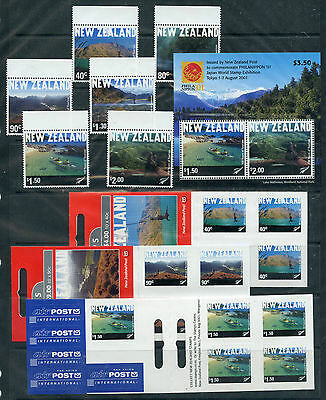 Weeda New Zealand 1722-1730b Complete 2001 Tourist Office Centenary set CV$45.25