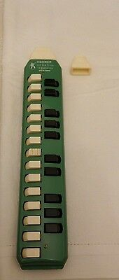 Vintage Antique Hohner Soprano Green Melodica Made In Germany