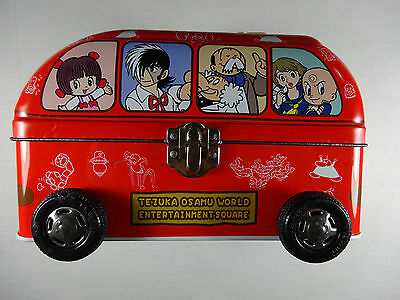 RARE Astro Boy Mighty Atom Jungle Emperor Leo Lunch Tin Metal Bento Box Bus