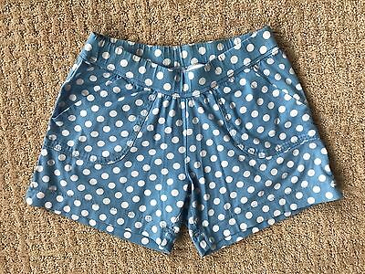 Girl's HANNA ANDERSSON Blue Knit Shorts - Size 140 (9-10)