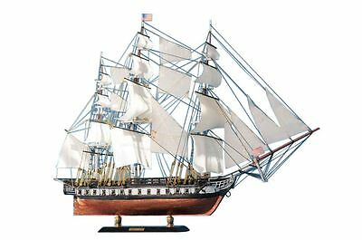 "USS Constitution Old Ironsides Tall Ship 20"" Built Wooden Model Boat Assembled"