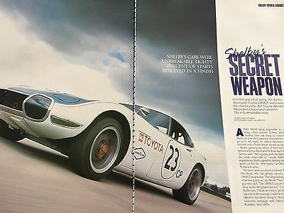 Toyota 2000 Gt # Shelby Developed Model # Original 5 Page Automotive Article