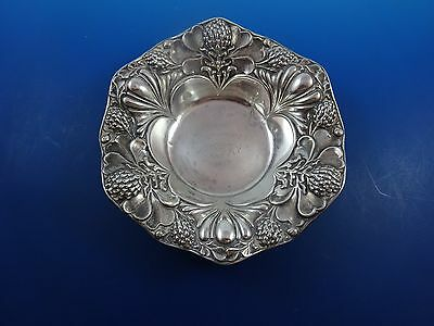 Antique Sterling Silver Floral Candy Bowl Dish w/ Thistle Design  (#1257)