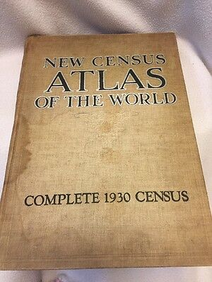 New Census atlas of the World Complete 1930 Census Hardcover w/ maps By Branom