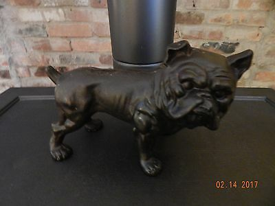 Antique English Bulldog cast iron doorstop