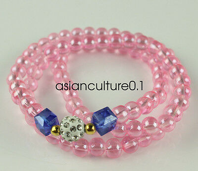 China fashionable Pink bead Bracelet and necklace LMQ416
