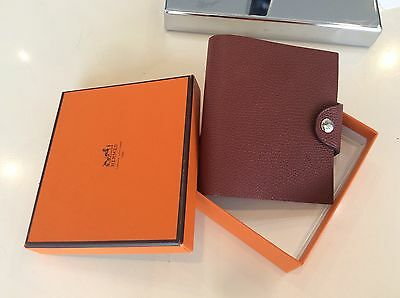 LOUIHermes New Brown  Leather  Agenda Notebook Schedule Book Day Planner