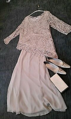 Mother of the bride 2 piece formal dress size 1X 100% silk