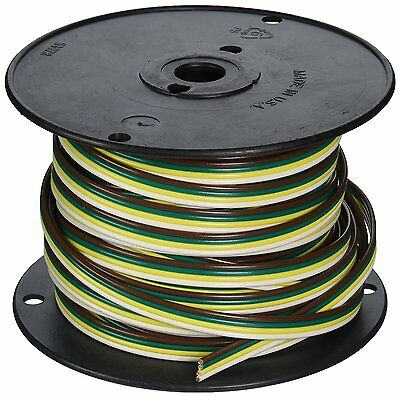 Coleman Cable 51564-03 100-Feet Spool of Trailer Wire, 16-Gauge 4-Conductor