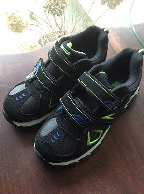 Boys Athletic Sneakers School Shoes Starter Size 3 New Black Blue Green