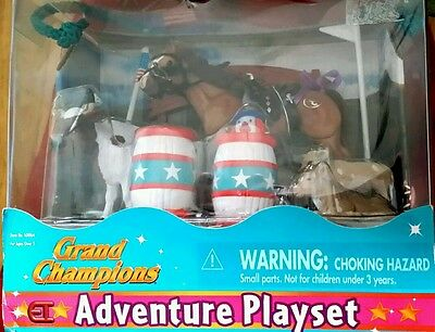 GRAND CHAMPIONS MINI RODEO ADVENTURE PLAYSET 1999 Vintage in Box