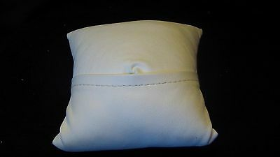 White Leatherette Watch or Ring Pillow Display