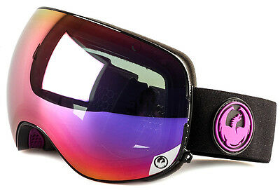 NEW 2016-Dragon X2 Goggles-Jet Black-Purple Ion+Yellow Red-SAME DAY SHIPPING!