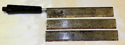 Vintage Lipshaw Knife with 3 Microtome Blades
