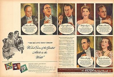 1944 WW2 era AD VICTOR Red Seal Phonograph Records Artie Shaw & Swarthout 062516